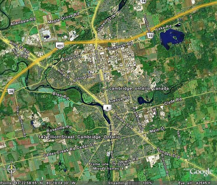 Cam Google Earth on